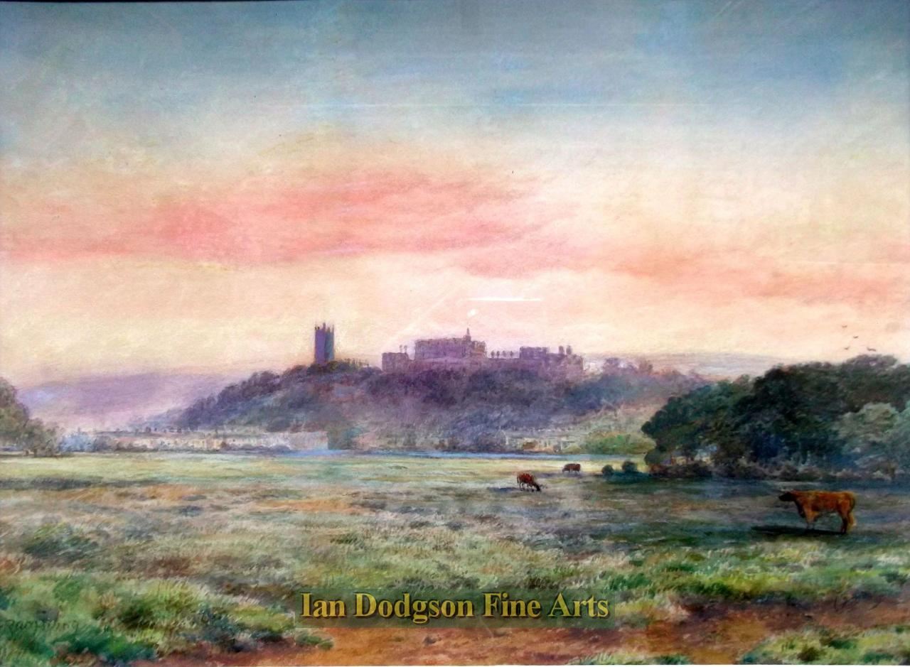Sunrise over Lancaster from the marshes by Robert Rampling