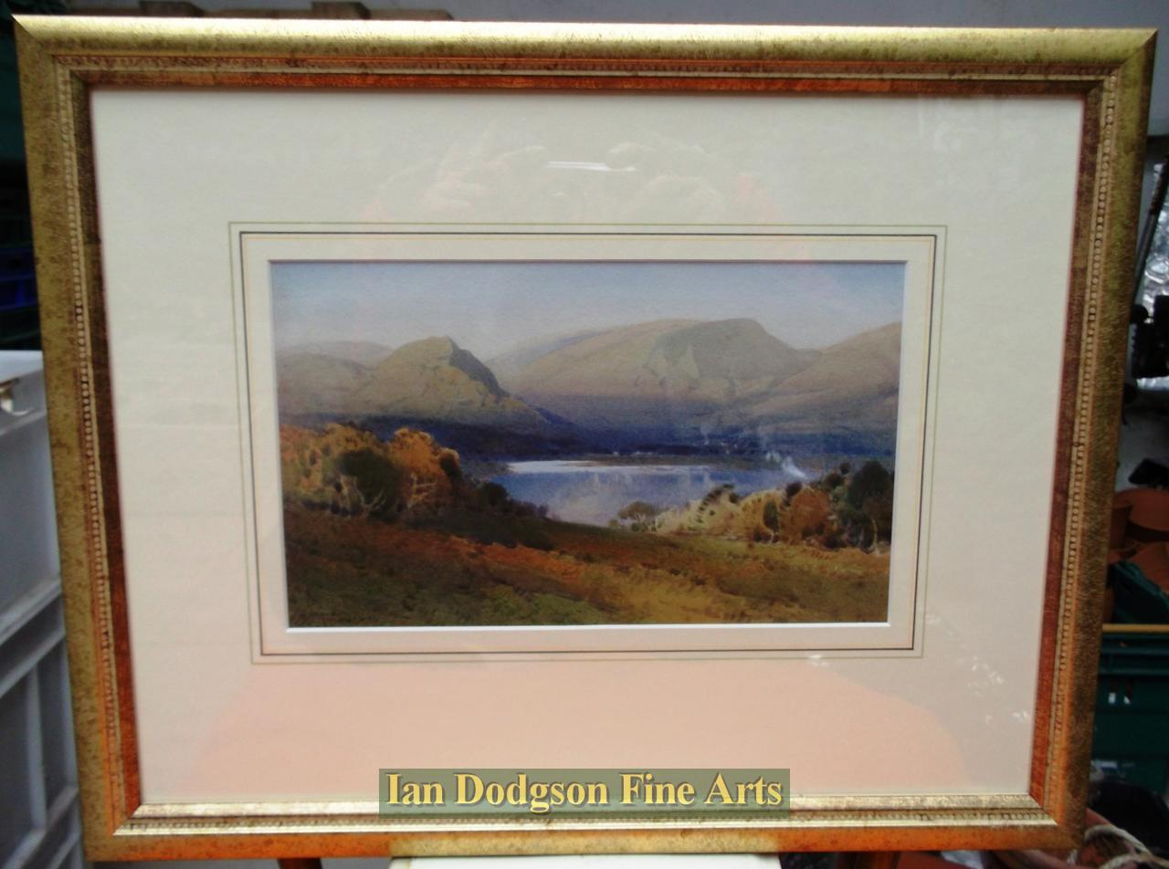 Painting by artist Arthur Tucker - Sunset over Grasmere (Watercolour)