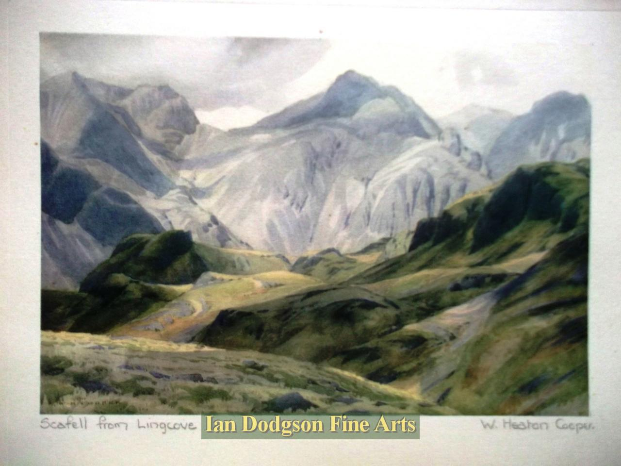 Scafell from Lingcove by William Heaton Cooper