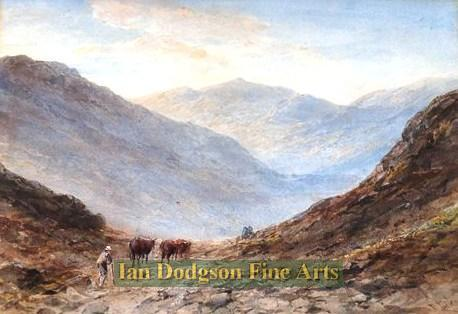 Over the mountain pass by Edward Tucker snr