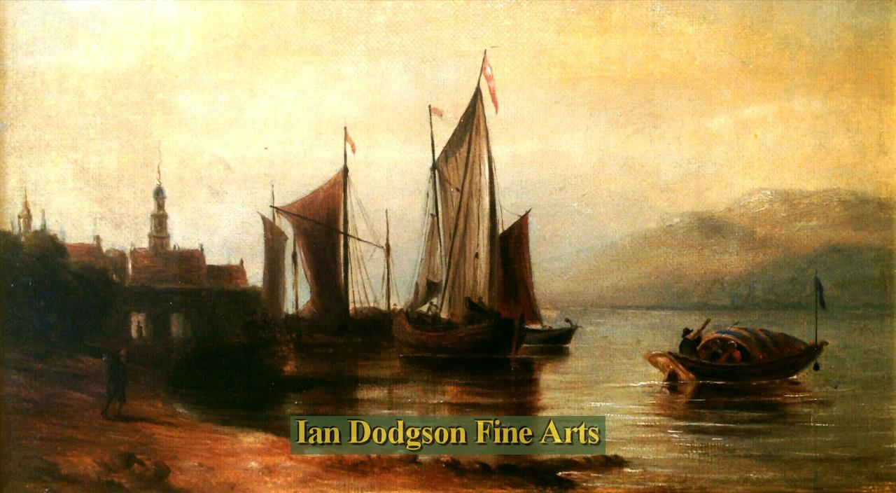 Continental shore scene by Att; Clarkson Stanfield