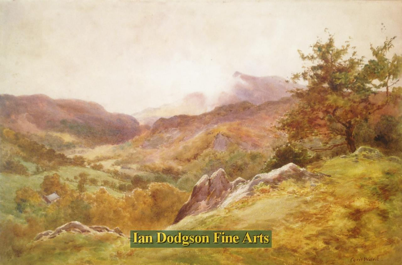 Cyril Ward RCA - Autumn in North Wales Watercolour (c1920)