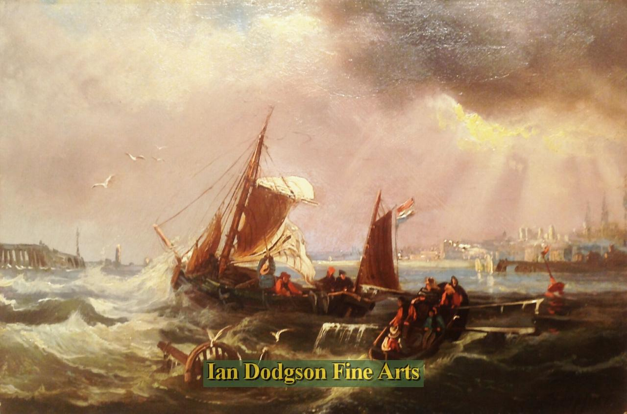 Ships in a swell by Franz Hoepfner