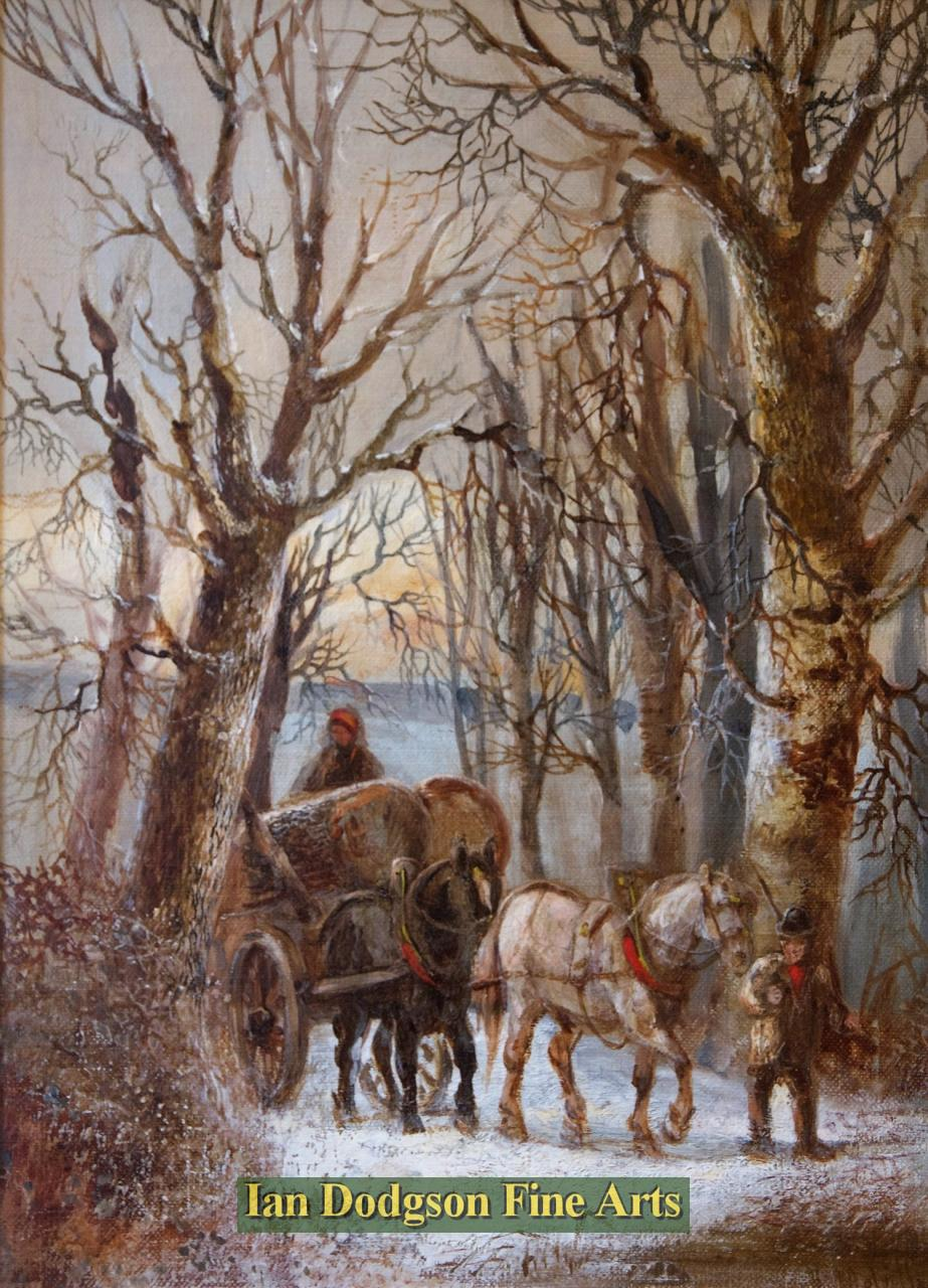 Winter scene by Harden Sidney Melville