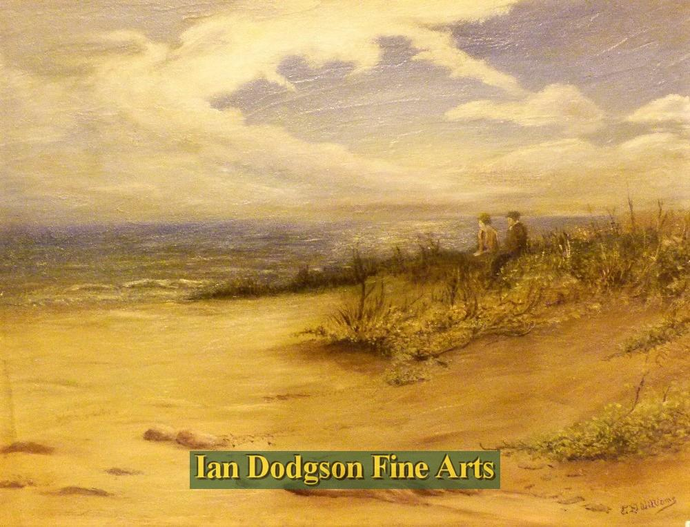 On the Beach, Romantic Evening by E D Williams