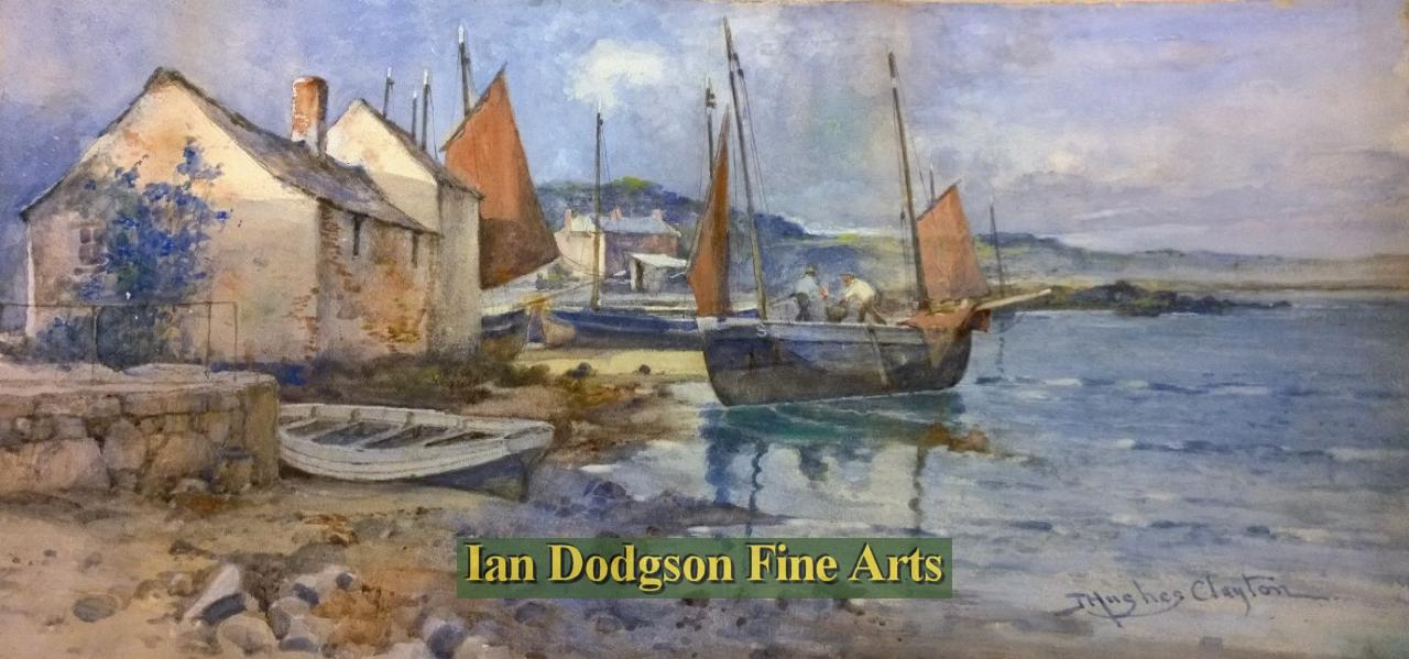 Anglesey, Local Fishing Harbour, by Joseph Hughes Clayton