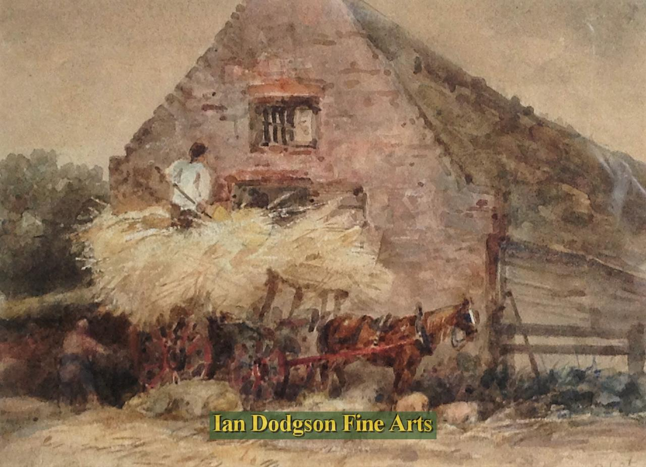 The Hay Wagon by David Cox Jnr