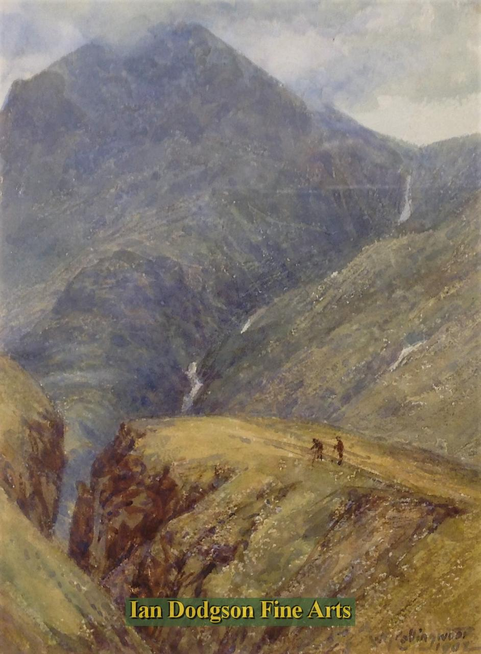 Walking in the mountains by William Gersham Collingwood