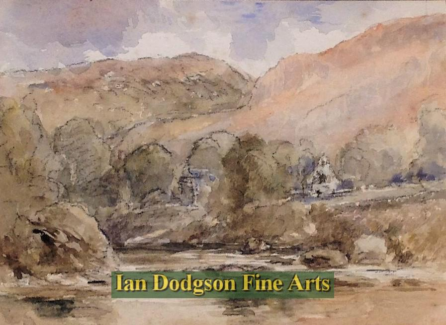 St. Michael`s Old Church, Betws y Coed by David Cox Snr
