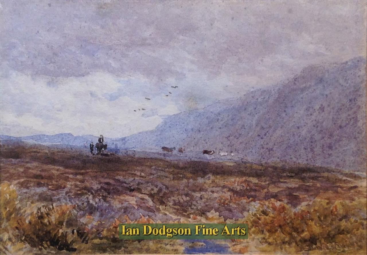 Crossing the moors by David Cox snr