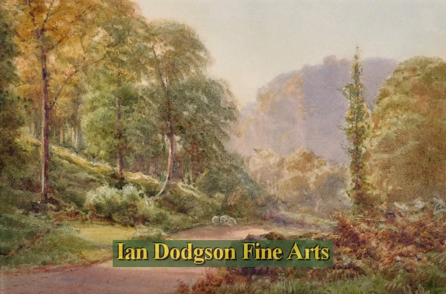 Painting by artist James Whaite R.C.A. - Road to Dolwyddelan, North Wales (Watercolour)