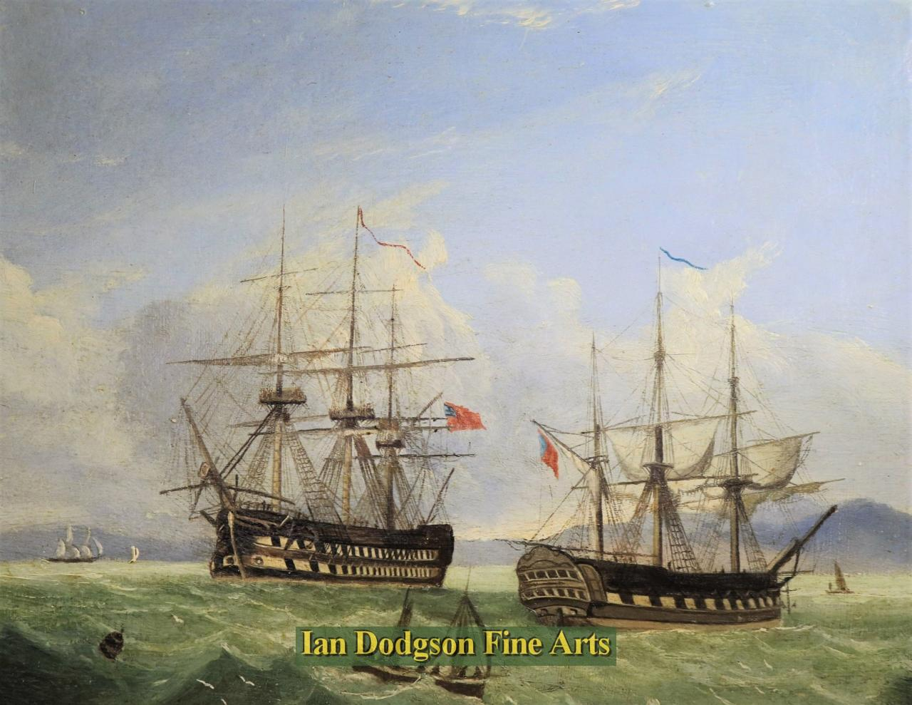 Frigates at Sea by Early English School