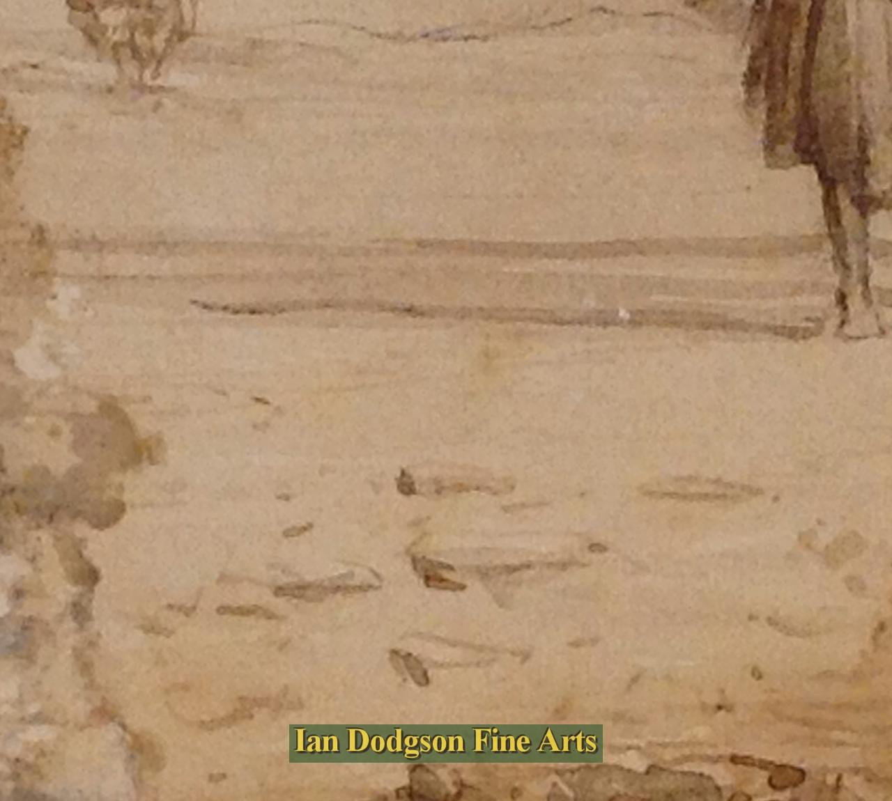 Detail,  Ulverston Sands, signature. by David Cox Snr