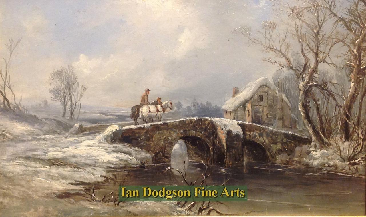Returning Home, Snowscene by John Mundell