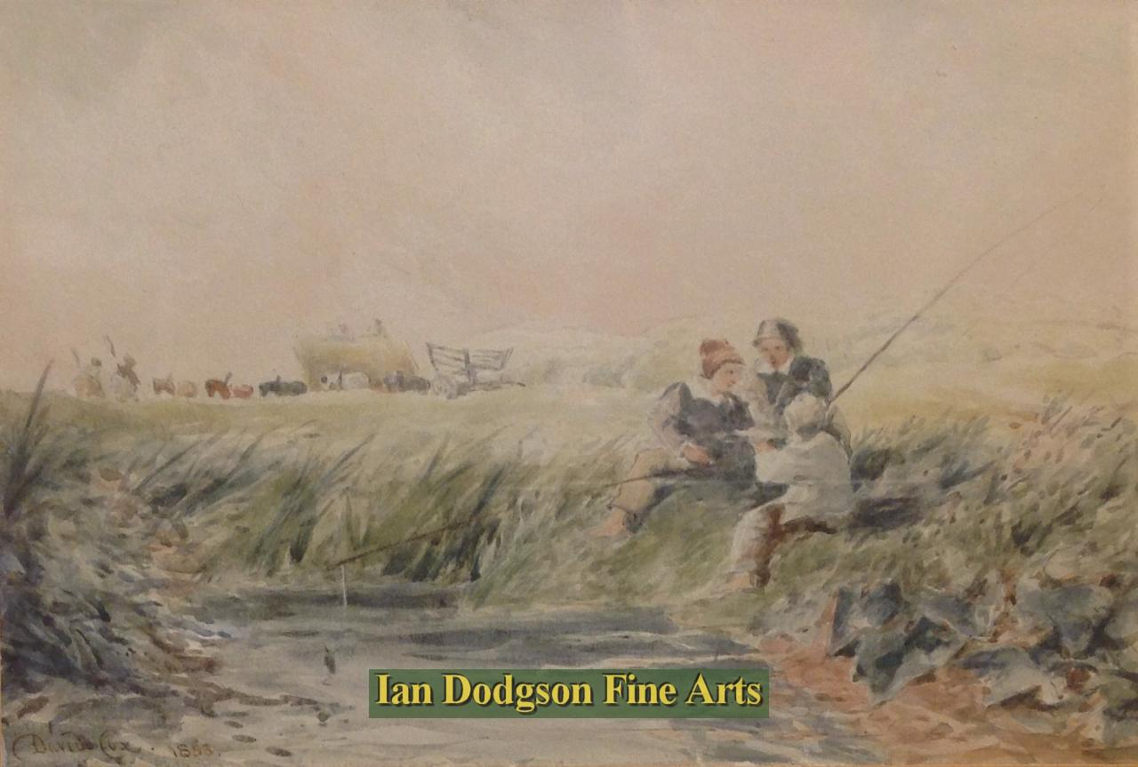 Fishing by David Cox Jnr