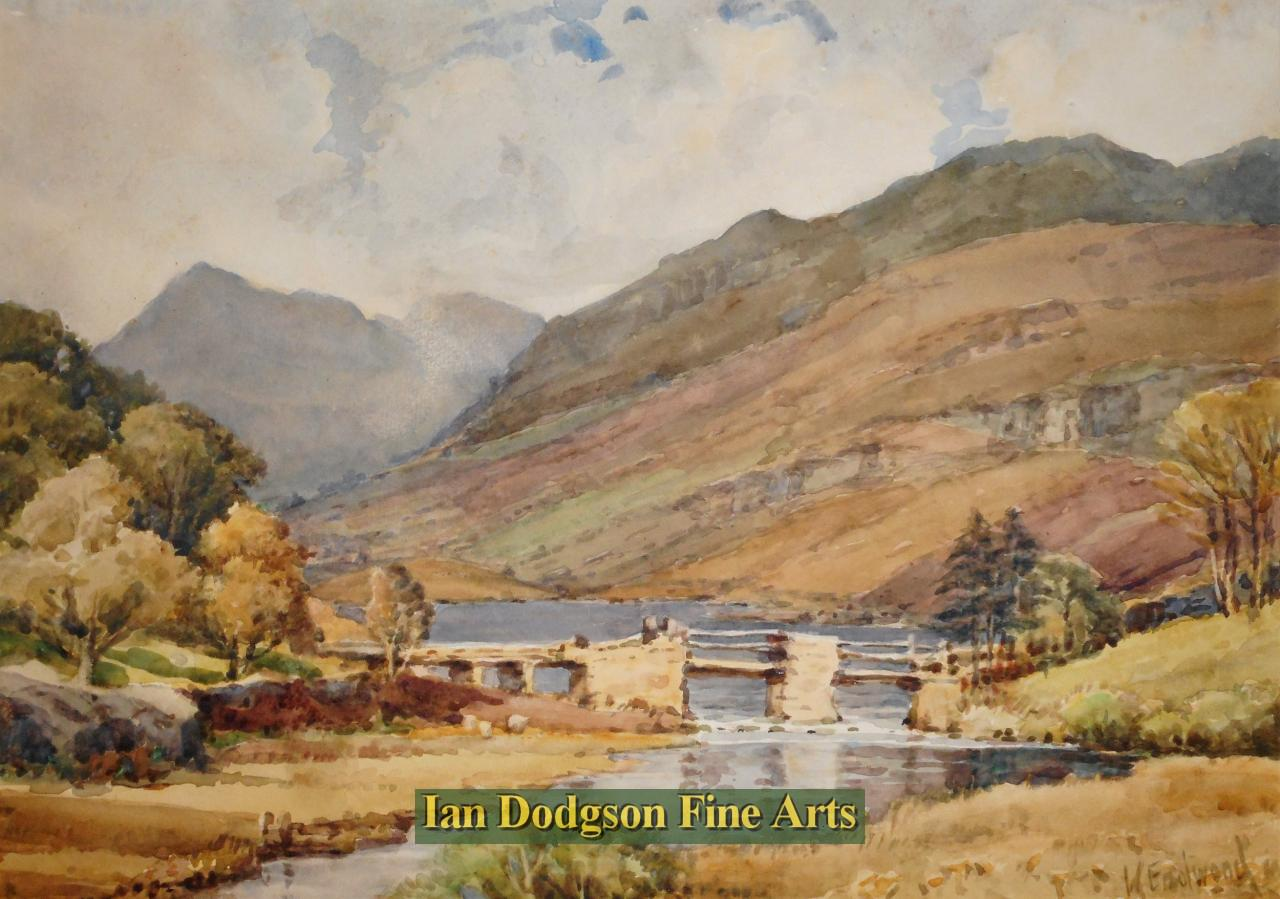 Walter Eastwood - The Old Bridge, Capel Curig Lake, N W.