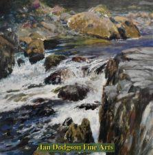 Water over rocks,  Afon Ogwen by Jeremy Yates
