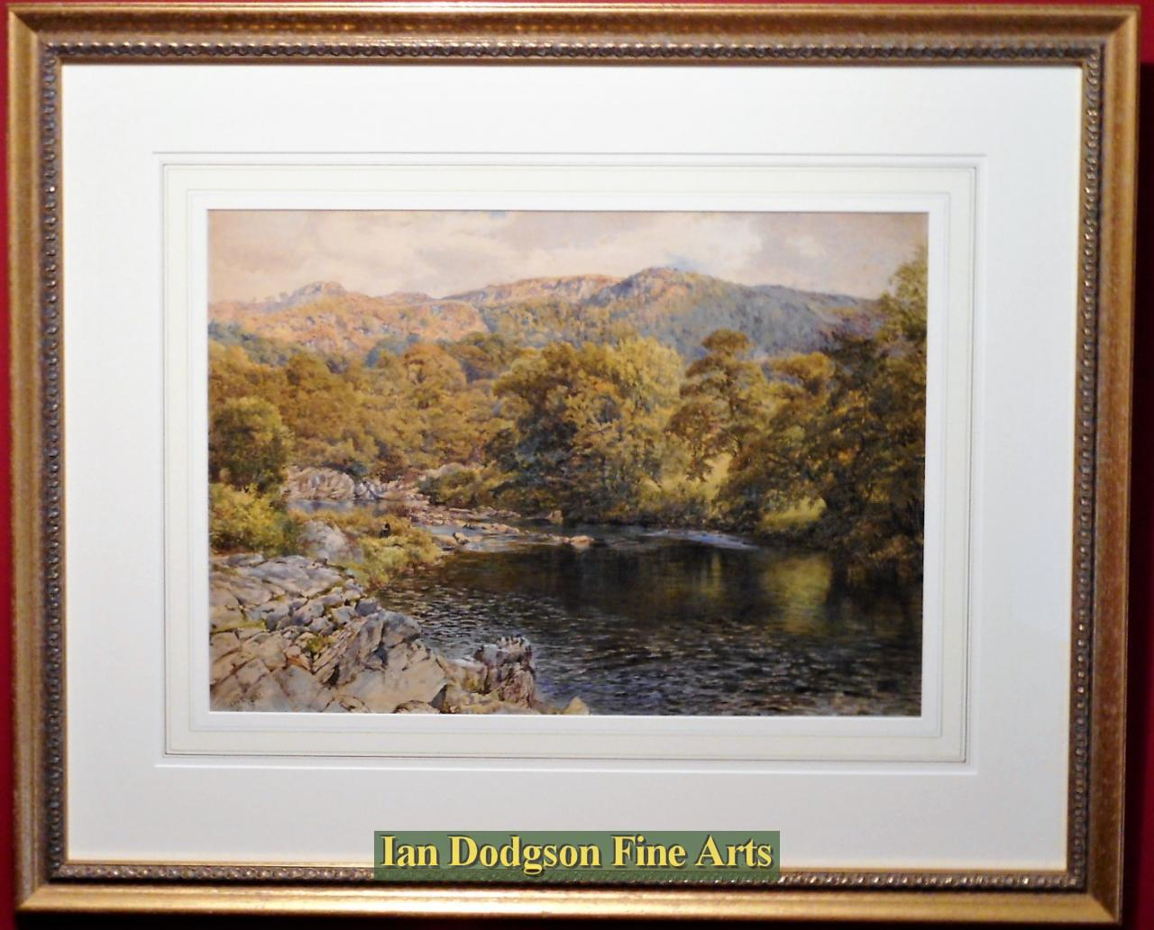 River Lledr meets the Conwy by William Robinson