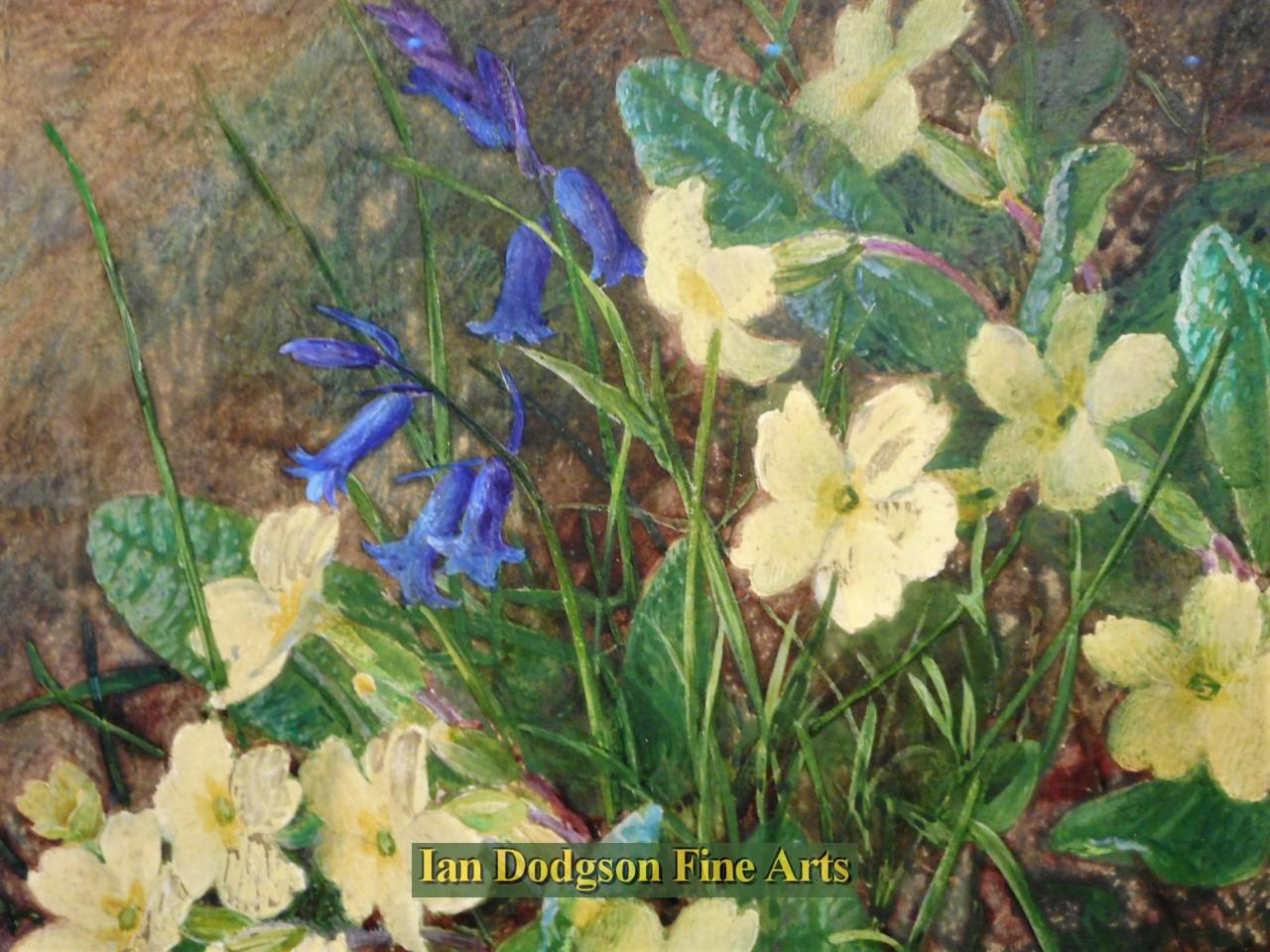 Primroses, Bluebells and Blossom by Charles Henry Slater