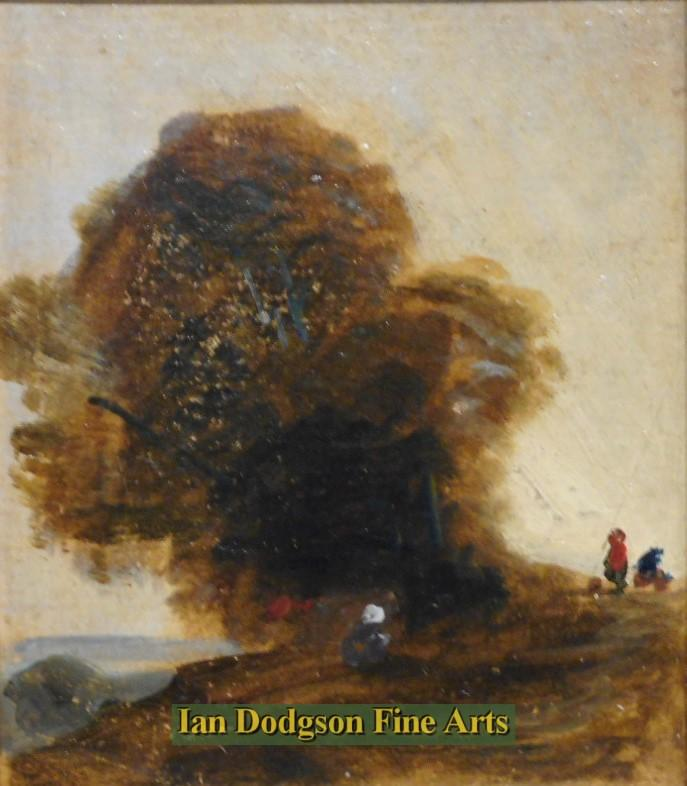 Study, Figures and Tree by David Cox Snr