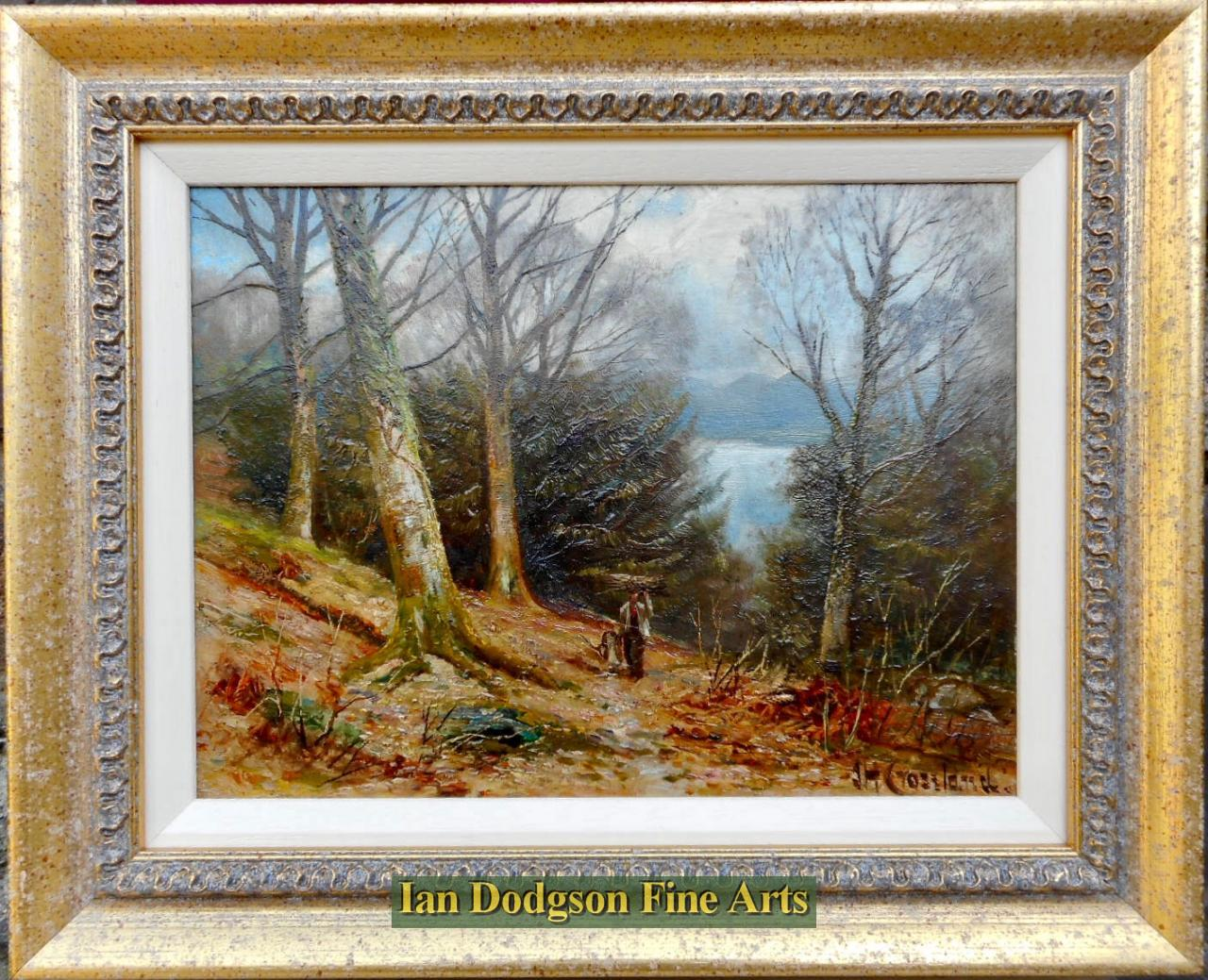 James Henry Crossland R.A. R.C.A. - In the woods above the ferry, Windermere