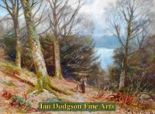 In the woods above the ferry, Windermere by James Henry Crossland