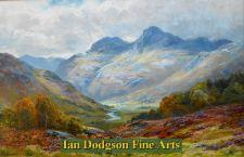 The Langdale Pikes by James Henry Crossland