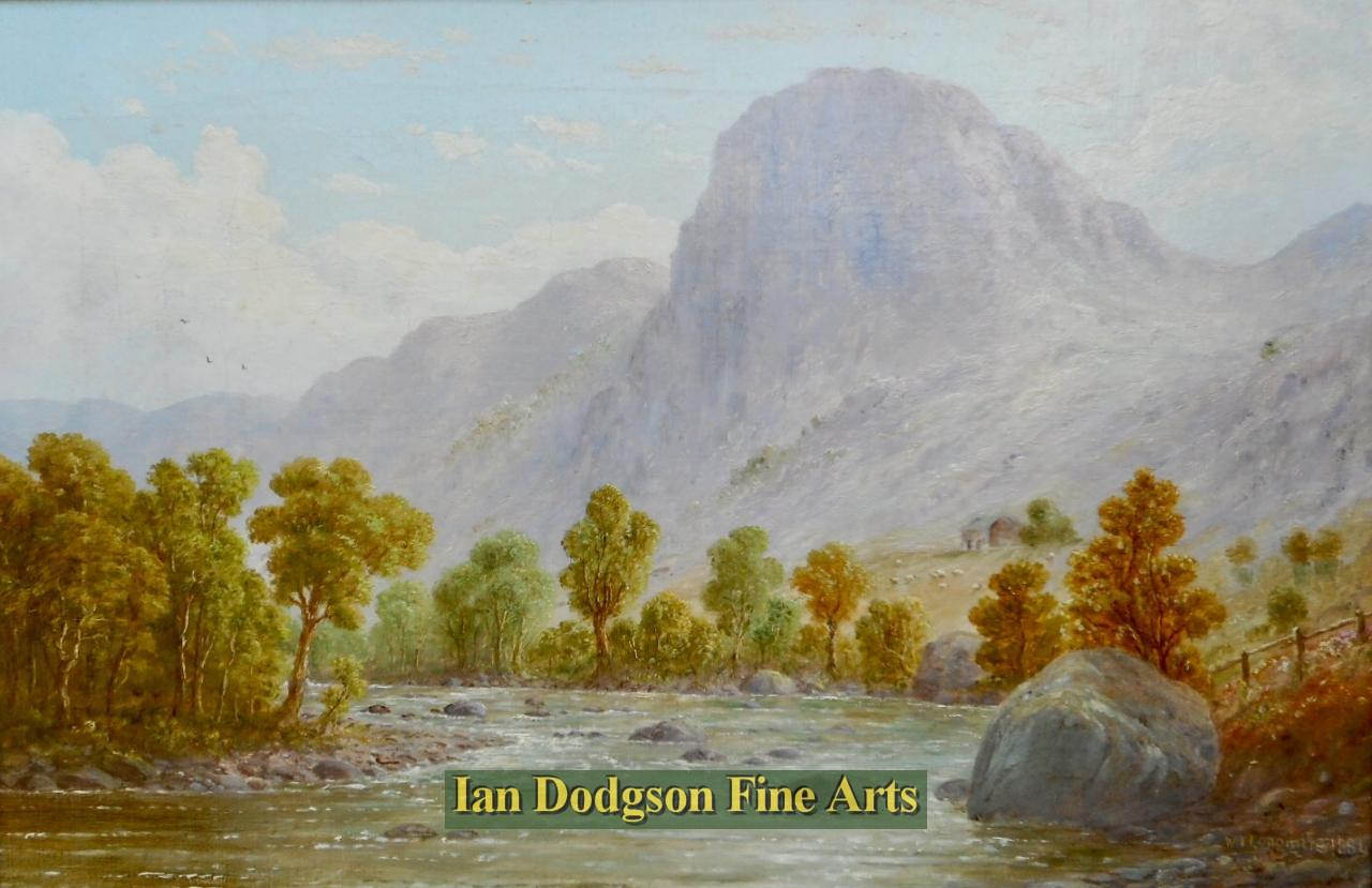 Ravens Crag and St Johns Beck, by William Taylor Longmire