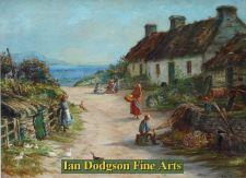 Busy Cottage Scene, N Wales by John Joseph Hughes