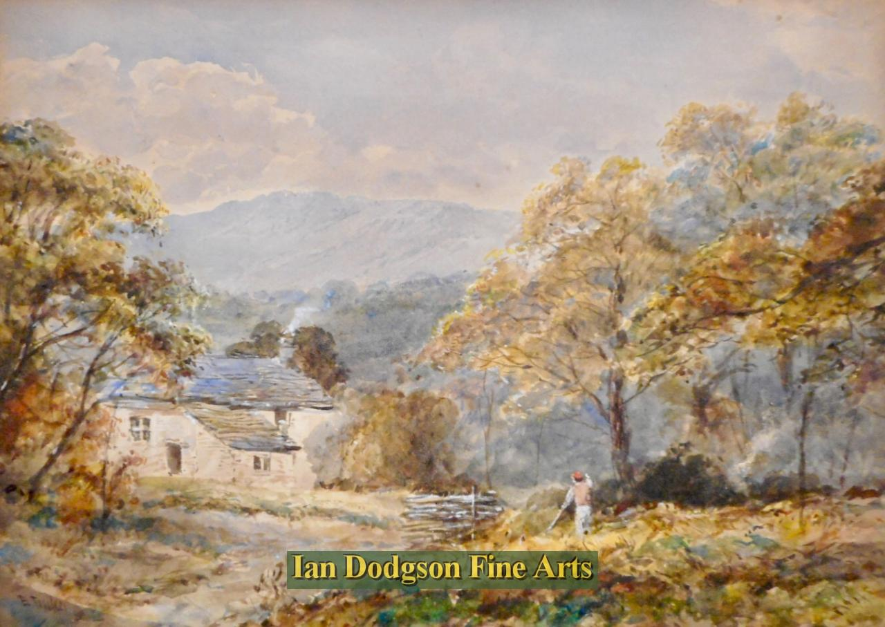 Edward Tucker snr - Charcoal burning,Windermere