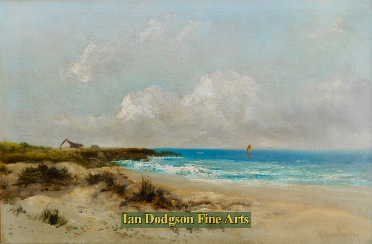 Coastal landscape. by William Langley