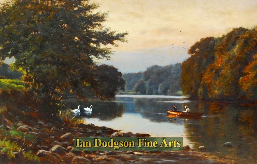 Tranquility, On the River Lune. by Reginald Aspinwall