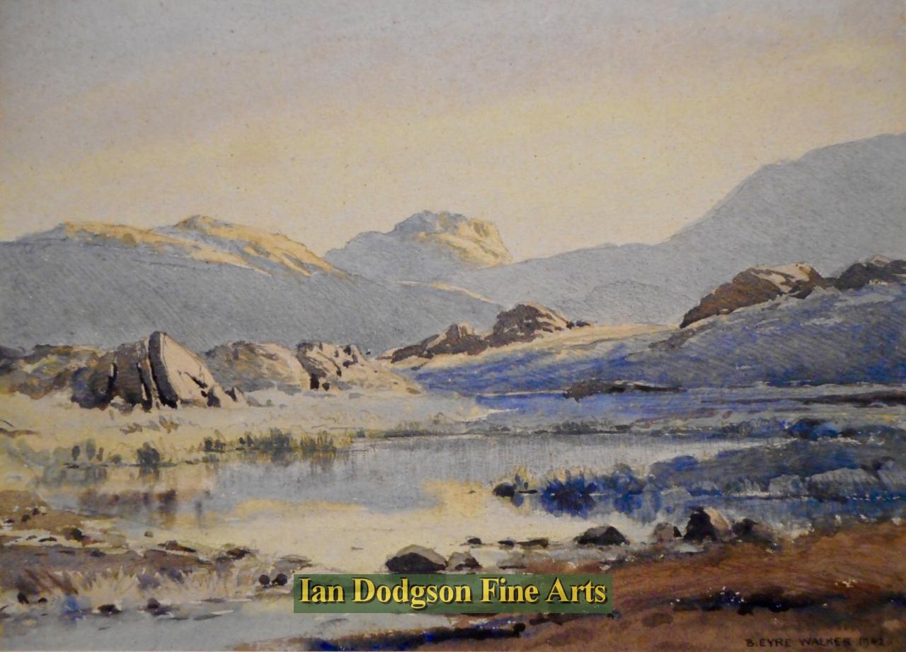 Tarn on Seathwaite Fell by Bernard Eyre Walker