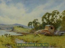 Gypsy encampment near Beaumaris by John Abernethy Lynas Gray